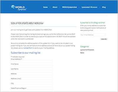 WORLDFair Sign Up Form